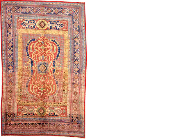 A Indian rug circa 1900 size approximately 6ft 7in. x 10ft. 7in.