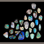 Group of Twenty-seven Boulder Opals