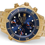 Omega. A fine 18K gold automatic divers' chronograph and bracelet with Helium escape valveSeamaster Professional Chronometer