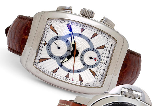 "Dubey & Schaldenbrand. A stainless steel automatic chronograph with date""Gran' Chrono"", No. 317"