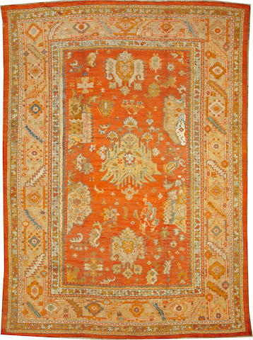 An Oushak carpet West Anatolia size approximately 9ft. 3in. x 12ft. 8in.
