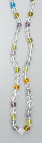 Multicolor Quartz Necklace
