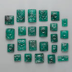 Group of Carved Emeralds