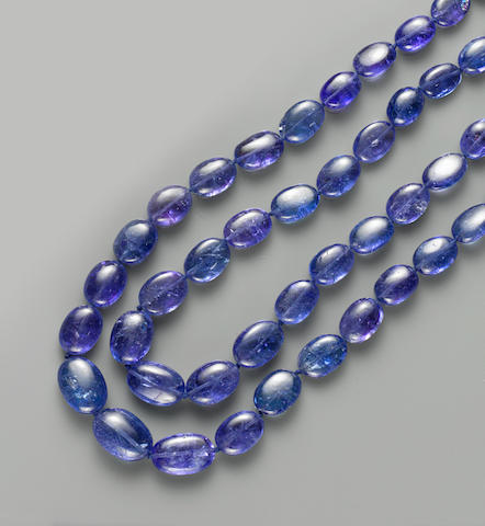 Tanzanite and Diamond Necklace, 417 cts.
