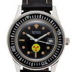 A stainless steel automatic center seconds diver's wristwatch