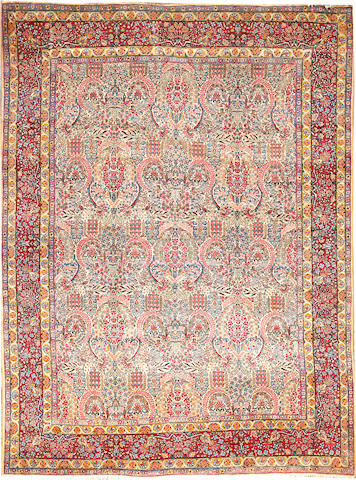 A Lavar Kerman carpet South Central Persia size approximately 8ft. 9in. x 11ft. 10in.