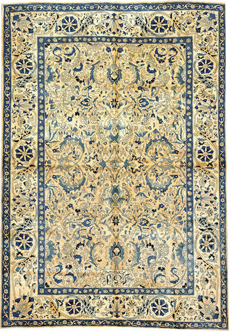 An Indo-Kerman carpet  India size approximately 6ft. 2in. x 8ft. 10in.