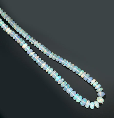 Hydrophane Crystal Opal Necklace