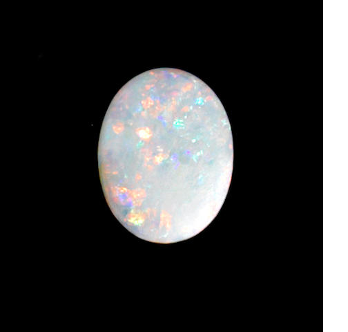 Classic White Crystal Opal Cabochon