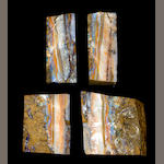 Two Bookmatched Specimens of Boulder Opal