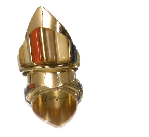 A Hopi gold ring