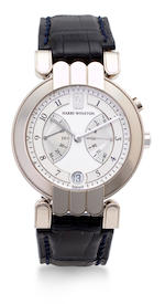 Harry Winston. A fine 18K white gold automatic bi retrograde calendar wristwatchOpus, No. 69