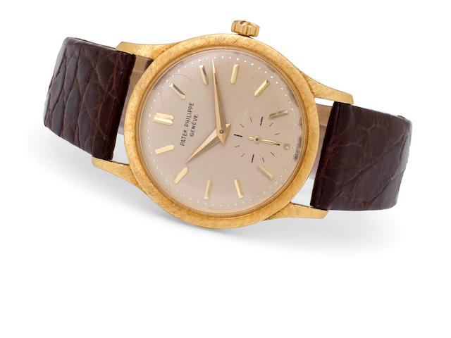 Patek Philippe. A fine 18K gold automatic wristwatchRef:3403, Case no. 310046, Movement no. 766317, circa 1959