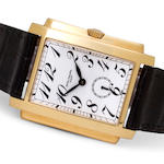 Patek Philippe. A fine 18K gold rectangular wristwatchGondolo, Ref:5024, Case No. 4104023, Movement No. 1872040, sold in 2000