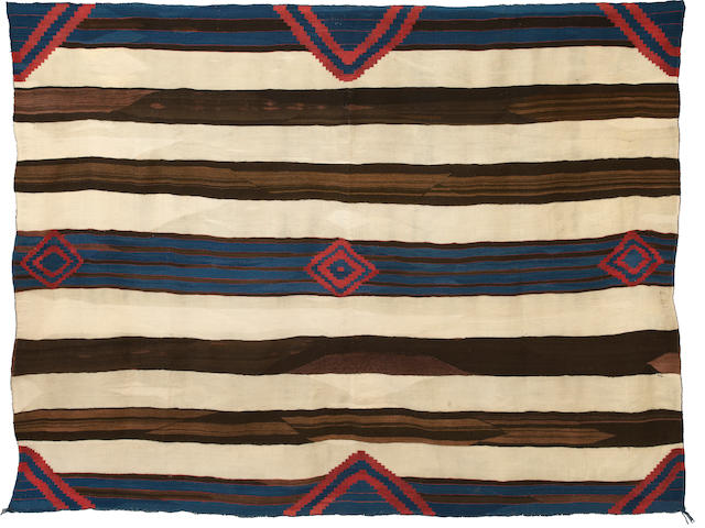 A rare and important Navajo chief's blanket
