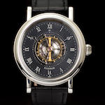 Beat Haldiman. An extremely fine platinum precision wristwatch with central flying tourbillonH1, No. 19, completed 2005