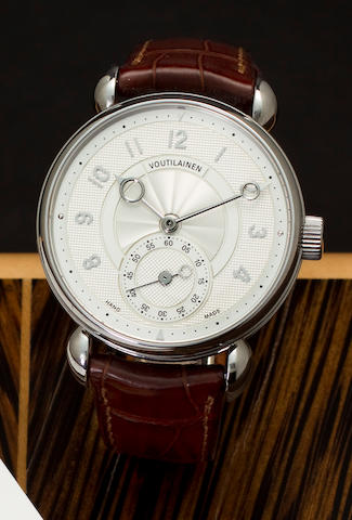 Kari Voutilainen. A very fine stainless steel lever chronometer wristwatch with Bulletin de MarcheChronomètre d'Observatoire, No. C26072, sold 2009