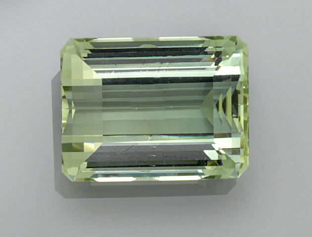 Exceptional Green Beryl--A Member of the '100 Carats Club'