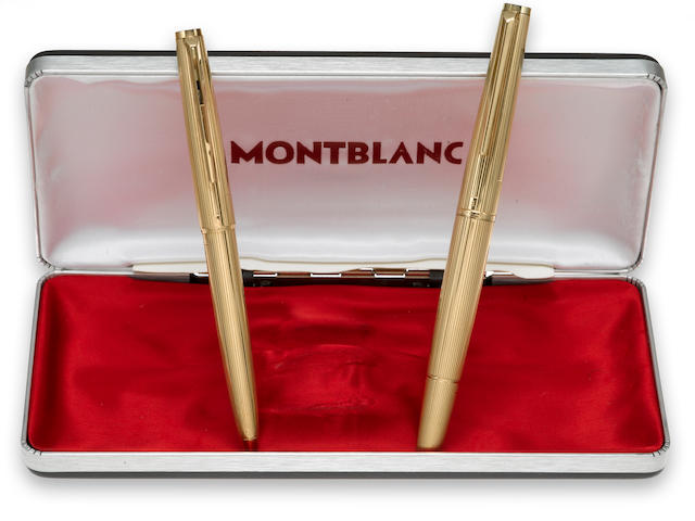 [Vintage] MONTBLANC: Pair of 14K Solid Gold Pens, c.1972
