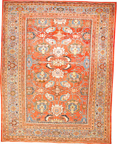 A Sultanabad carpet  Central Persia size approximately 9ft. x 11ft. 3in.