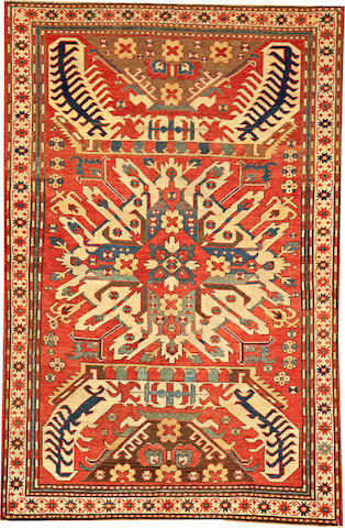 An Eagle Kazak rug Caucasus size approximately 4ft. 3in. x 6ft. 4in.