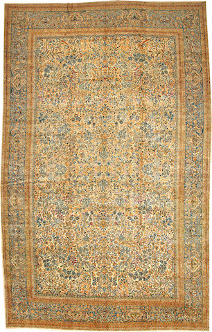 A Lavar Kerman carpet  South Central Persia size approximately 12ft. 3in. x 19ft. 4in.