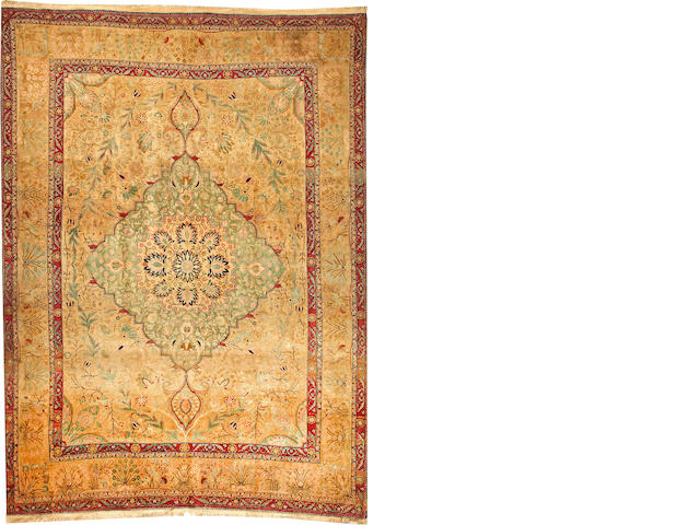 A Mohtasham Kashan carpet  (Hadji to talk about price) Central Persia size approximately 7ft. 2in. x 9ft. 8in.