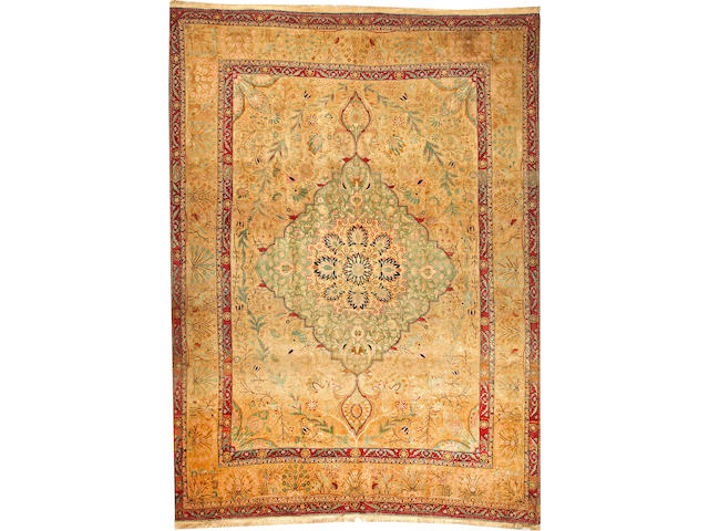 A Mohtasham Kashan carpet Central Persia size approximately 7ft. 2in. x 9ft. 8in.