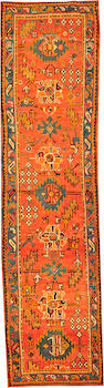 An Oushak runner  West Anatolia size approximately 3ft. 2in. x 12ft. 3in.
