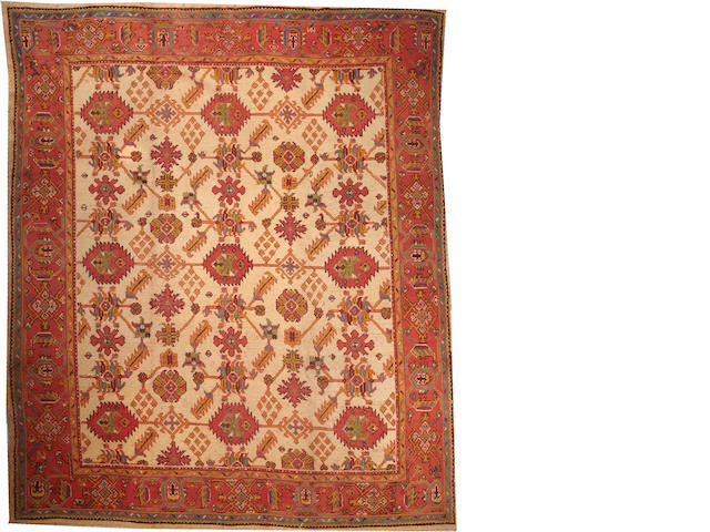 An Oushak carpet  West Anatolia size approximately 10ft. 6in. x 12ft. 6in.