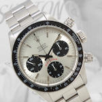 Rolex. A fine stainless steel chronograph bracelet watch with tachymeter bezelCosmograph Daytona, Ref:6263, Case no. 5503357, circa 1978