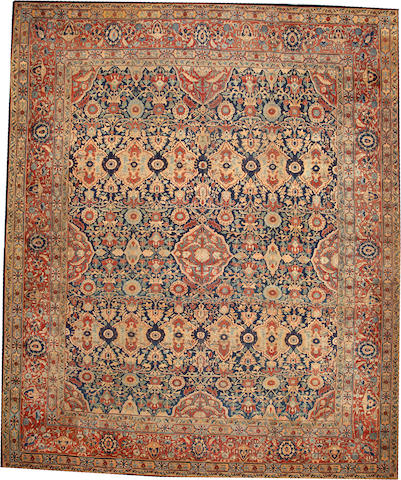 A Kashan carpet Central Persia size approximately 12ft. 6in. x 15ft. 1in.