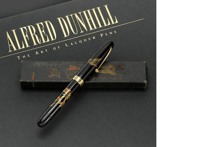 [Vintage] NAMIKI: Dunhill-Namiki Birds Over Blossoms Maki-e Fountain Pen