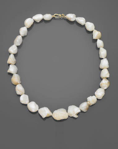 Rare American Natural Pearl Necklace