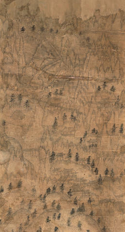 Anonymous (Joseon dynasty, 19th century) Landscape with temples