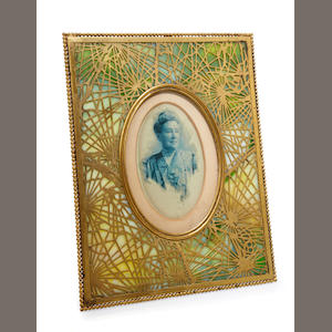 A Tiffany Studios gilt-bronze Pine Needle picture frame 1899-1918