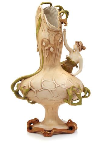 An Amphora glazed ceramic figural vase circa 1900