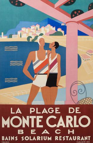 Michel Bouchaud La Plage de Monte Carlo, 1929