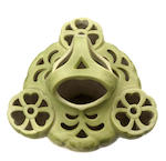 An Edmund Lachenal matte-glazed stoneware pierced Wisteria vase circa 1895