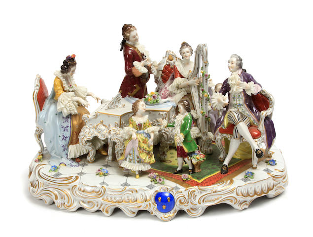 A German porcelain figural group