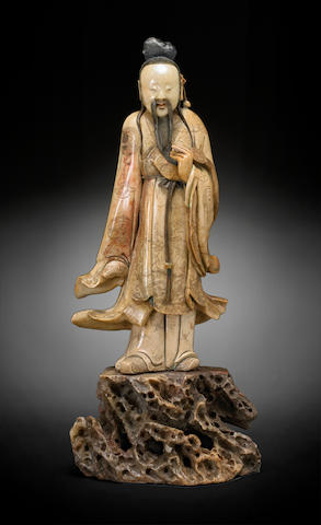 A soapstone figure of an immortal Late 19th/20th century
