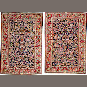 A pair of Kashan rugs   Central Persia