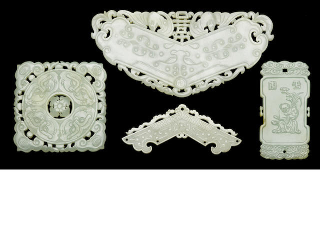 Four jade pendants 18th/19th Century