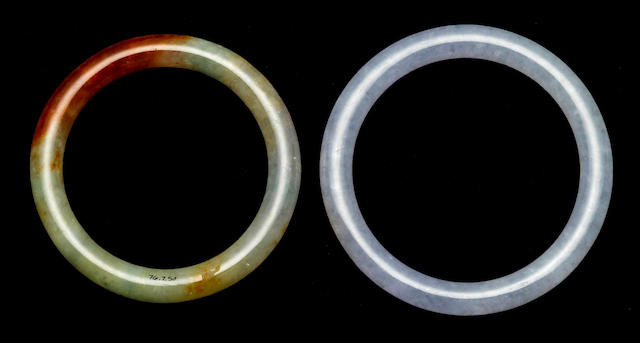 Two jadeite bangles