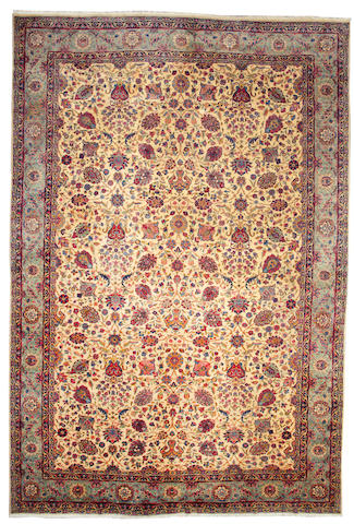 A Kerman carpet  South Central Persia size approximately 11ft. 8in. x 17ft. 5in.