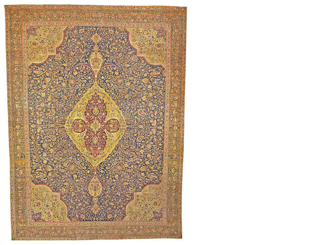 Tabriz carpet Northwest Persia size approximately 10ft. 3in. x 14ft.
