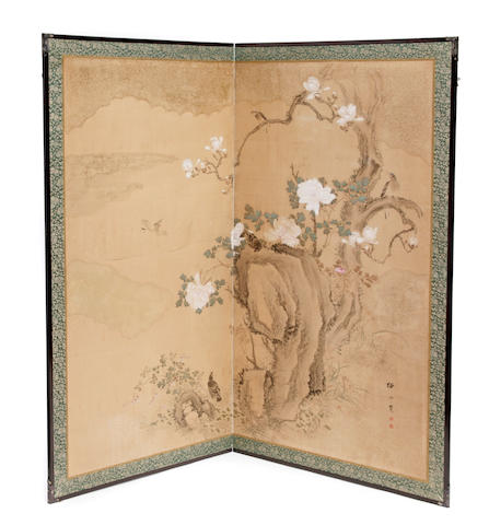 A painted Japanese screen<br/> Kaishinkan