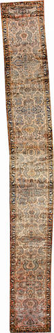 A Lilihan runner Central Persia size approximately 2ft. 8in. x 23ft. 3in.