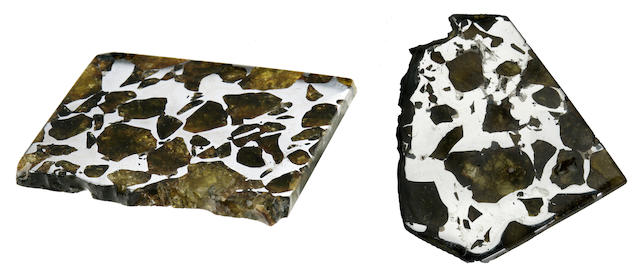 Two Pallasite Slices: Imilac Slice together with Marjalahti