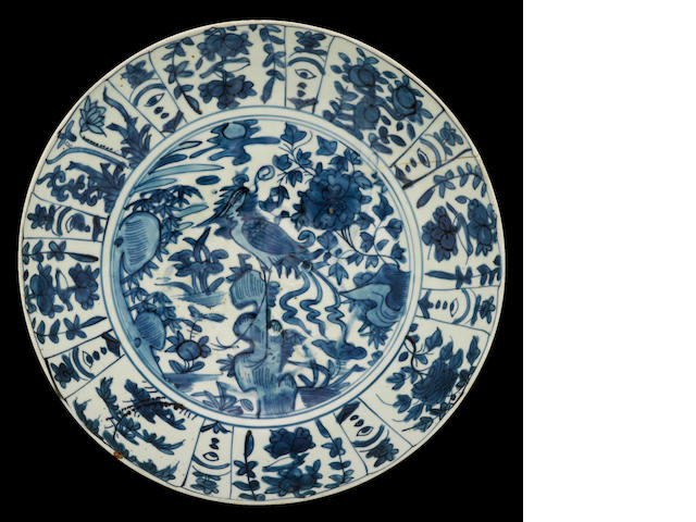 A blue and white porcelain bowl Late Ming dynasty
